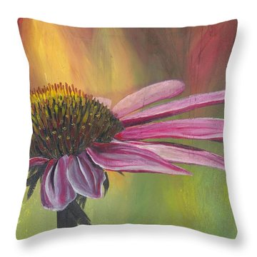 'glory In Bloom' Throw Pillow