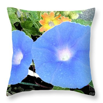 Throw Pillow featuring the photograph Glory Morn by Ecinja Art Works