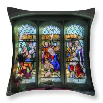 Glory Of God Throw Pillow by Ian Mitchell