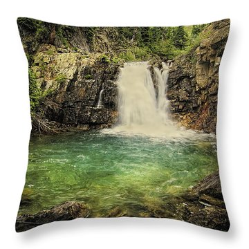 Throw Pillow featuring the photograph Glory Pool by Priscilla Burgers