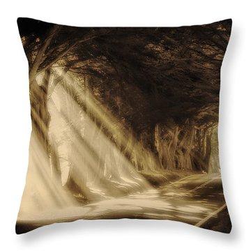 Glory Rays Throw Pillow