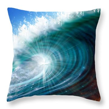 Glory Waves Throw Pillow