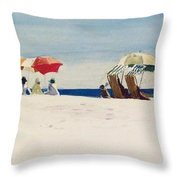 Gloucester Beach Throw Pillow by Edward Hopper