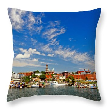 Gloucester Massachusetts Throw Pillow by Charles Dobbs