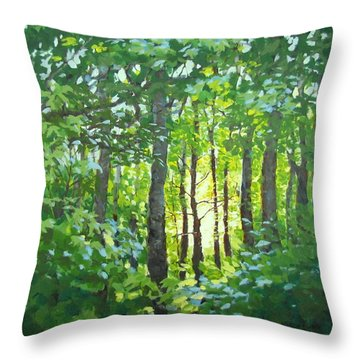 Throw Pillow featuring the painting Glow by Karen Ilari