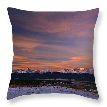 Glow Of Morning Throw Pillow by Jeremy Rhoades