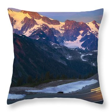 Glow Throw Pillow by Ryan Manuel