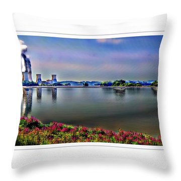 Glowing 3 Mile Island Throw Pillow