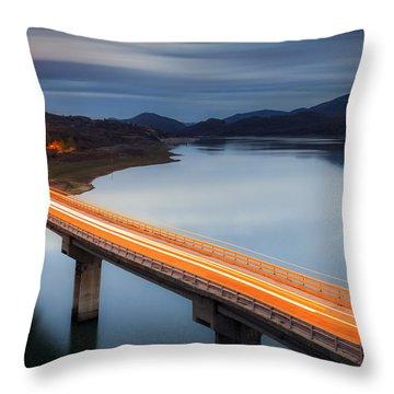 Glowing Bridge Throw Pillow