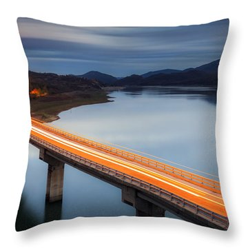 Glowing Bridge Throw Pillow