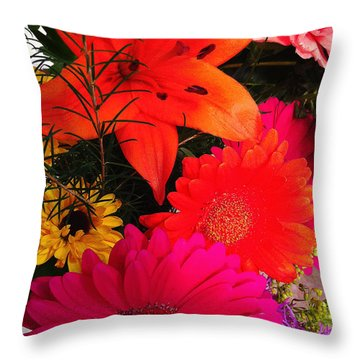 Throw Pillow featuring the photograph Glowing Bright by Meghan at FireBonnet Art