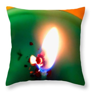 Glowing Candle Wick Throw Pillow