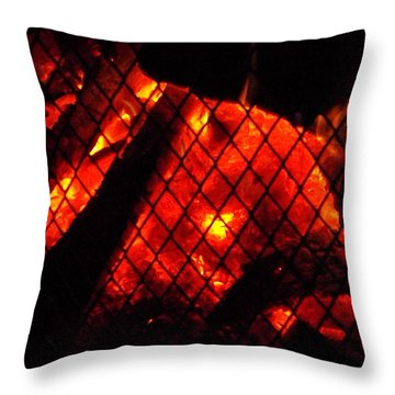Glowing Embers Throw Pillow by Darren Robinson