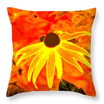 Glowing Embers Throw Pillow