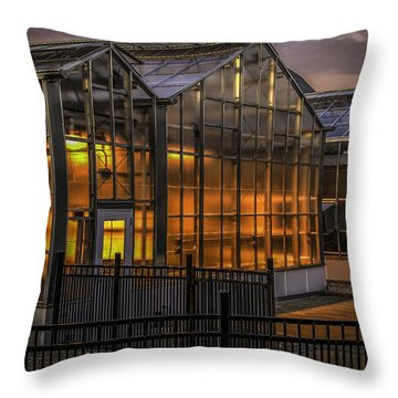 Glowing Greenhouse Throw Pillow
