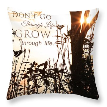 Glowing Landscape With Message Throw Pillow