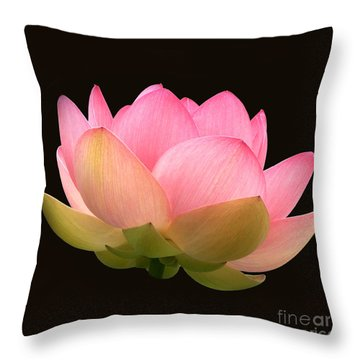Glowing Lotus Square Frame Throw Pillow