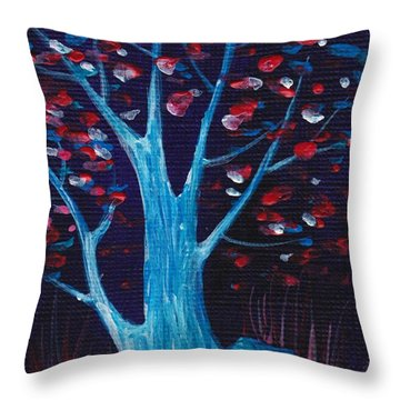 Glowing Night Throw Pillow by Anastasiya Malakhova