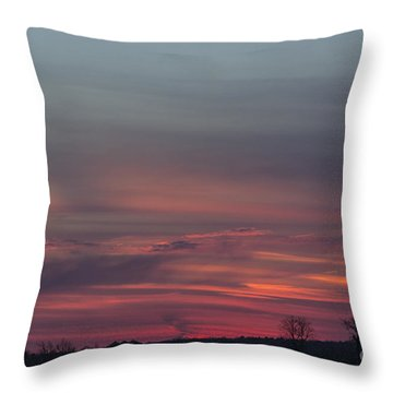 Glowing Plains Throw Pillow