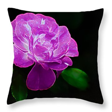 Glowing Rose II Throw Pillow