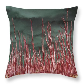 Glowing Trees 2 Throw Pillow