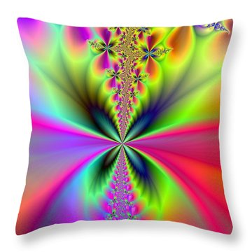 Glowing Wings Throw Pillow