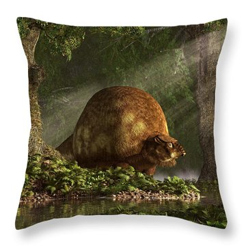 Glyptodon Throw Pillow