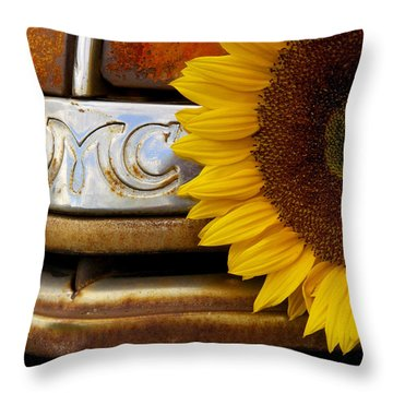 Gmc Sunflower Throw Pillow