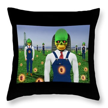 Gmo Demon Seeds Throw Pillow by Keith Dillon