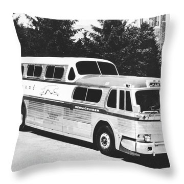 Gm's Latest Bus Line Throw Pillow
