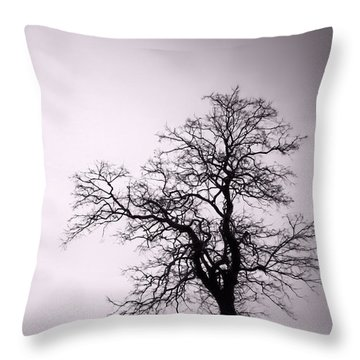 Gnarly Tree Portrait Throw Pillow