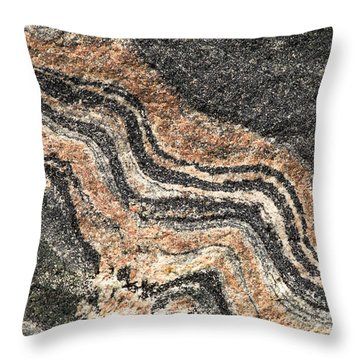 Gneiss Rock  Throw Pillow