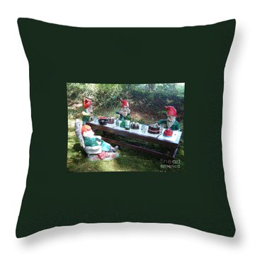 Gnome Cooking Throw Pillow