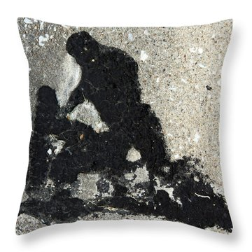 Go And Sin No More Throw Pillow by John Lautermilch