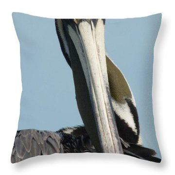 Go Away Throw Pillow