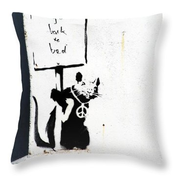 Go Back To Bed Protester Throw Pillow by A Rey