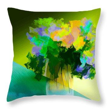 Go Fleur Throw Pillow by Frank Bright