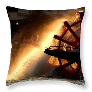 New Orleans Steamboat Natchez On The Mississippi River Throw Pillow by Michael Hoard