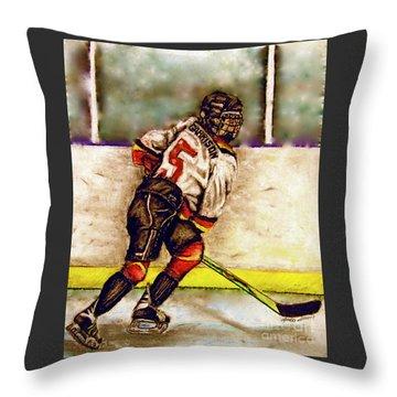 Go Garrison    Throw Pillow by Linda Simon