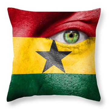 Go Ghana Throw Pillow