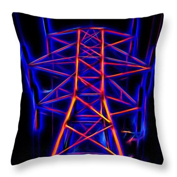 Go Glow In Topaz Throw Pillow