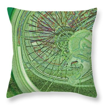 Go Green 1 By Jrr Throw Pillow by First Star Art