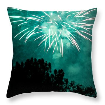 Throw Pillow featuring the photograph Go Green by Suzanne Luft