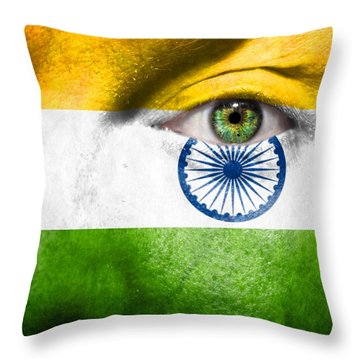Go India Throw Pillow by Semmick Photo