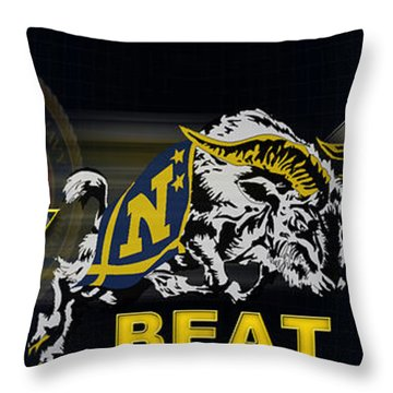 Go Navy Beat Army Throw Pillow
