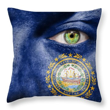 Go New Hampshire Throw Pillow by Semmick Photo