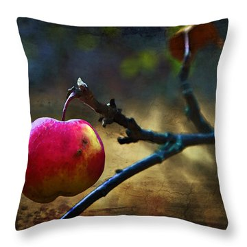 Go On Dearie  Take A Bite Throw Pillow by Theresa Tahara