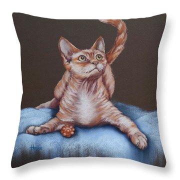 Throw Pillow featuring the painting Go On Throw It Again by Cynthia House