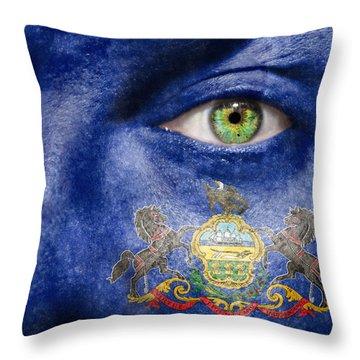 Go Pennsylvania Throw Pillow by Semmick Photo