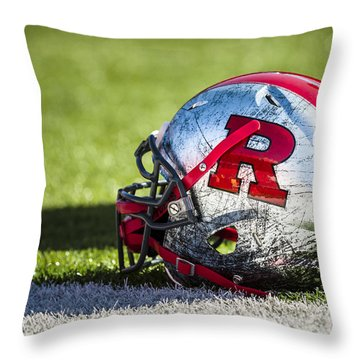 Go Rutgers Throw Pillow